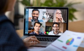 people on a virtual meeting on a computer screen